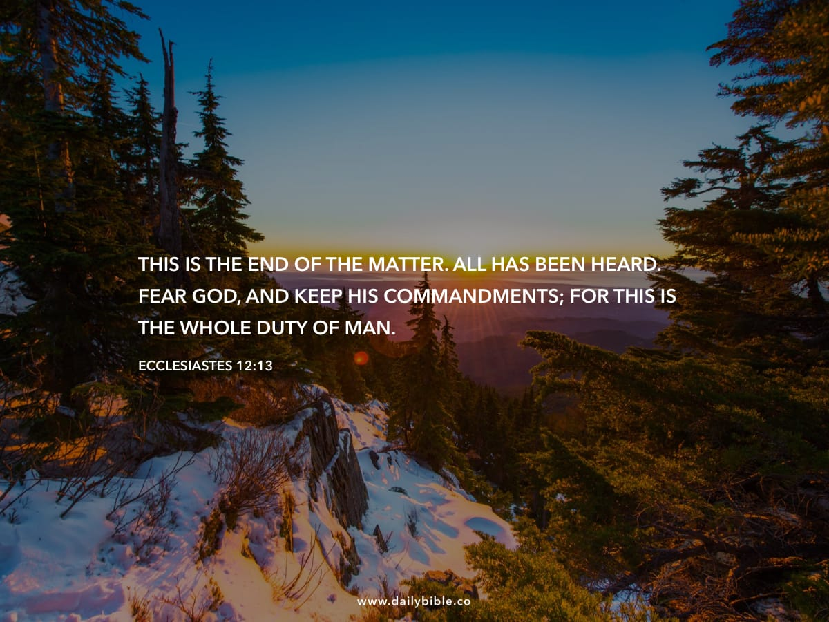 Ecclesiastes 12:13 - Daily Bible Inspirations
