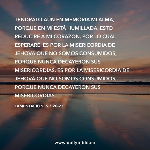 Lamentaciones 320 23 Inspiraciones Bíblicas Diarias