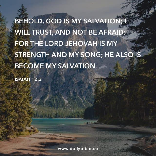 Isaiah 12:2 - Daily Bible Inspirations