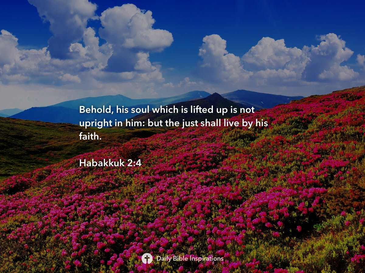 Habakkuk 2:4 | Daily Bible Inspirations